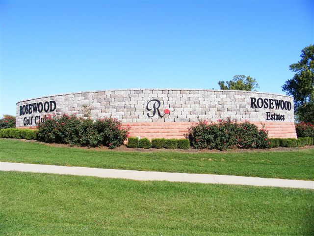 View of Rosewood Sign